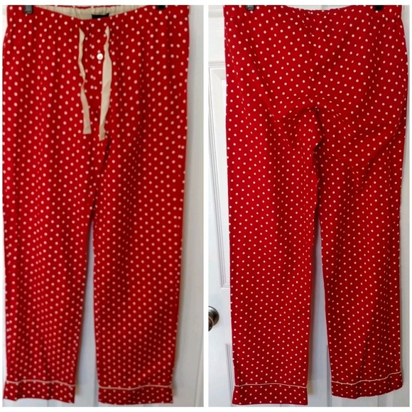 J Crew Intimates Sleepwear J Crew Womens Red White Polkadot
